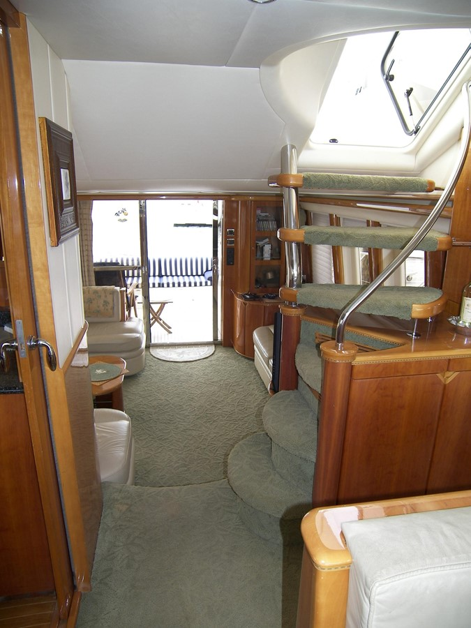 Looking Aft From Bridge Stairs 2001 VIKING SPORT CRUISERS 68 Motor Yacht  2862880
