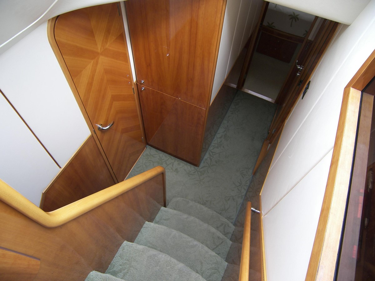 Stairs Down, Left Turn to Full Beam Master Stateroom 2001 VIKING SPORT CRUISERS 68 Motor Yacht  2862883