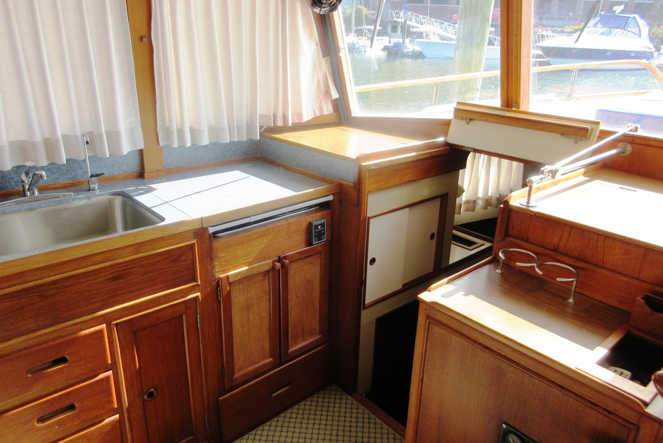 Galley to Fore Cabin entrance 1980 GRAND BANKS 42 Classic Trawler 2865722