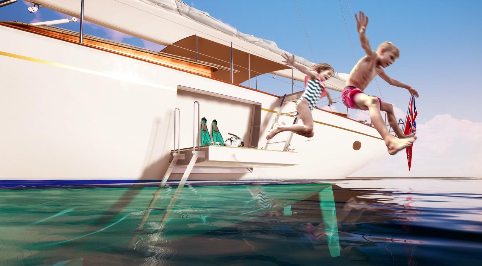 Swimming platform 2020 #1 HULL Truly Classic Classic Yacht 2887075