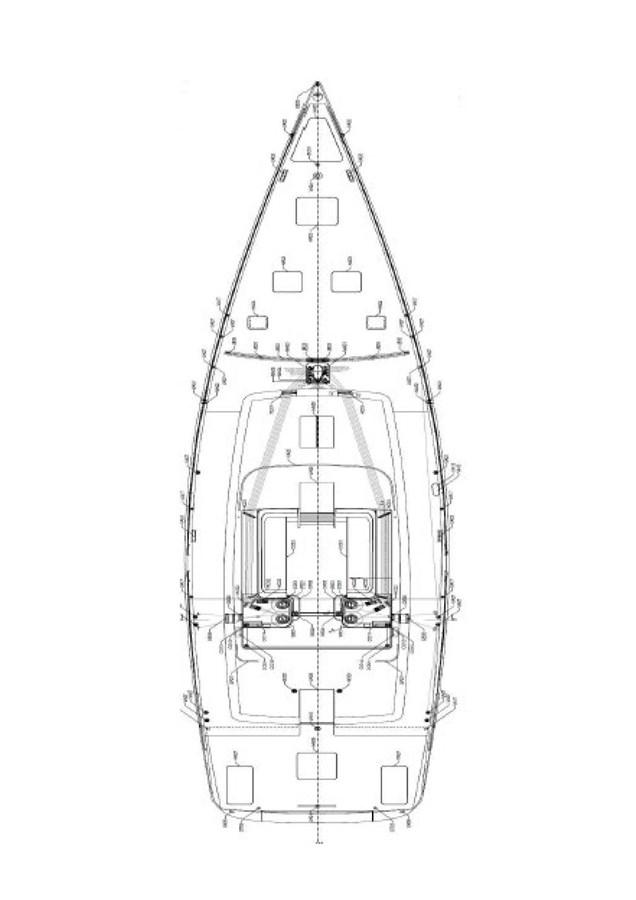 GA plan - deck 2015 CUSTOM Brenta 80 Cruising/Racing Sailboat 2898402