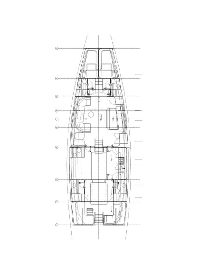 GA plan - interior 2015 CUSTOM Brenta 80 Cruising/Racing Sailboat 2898403