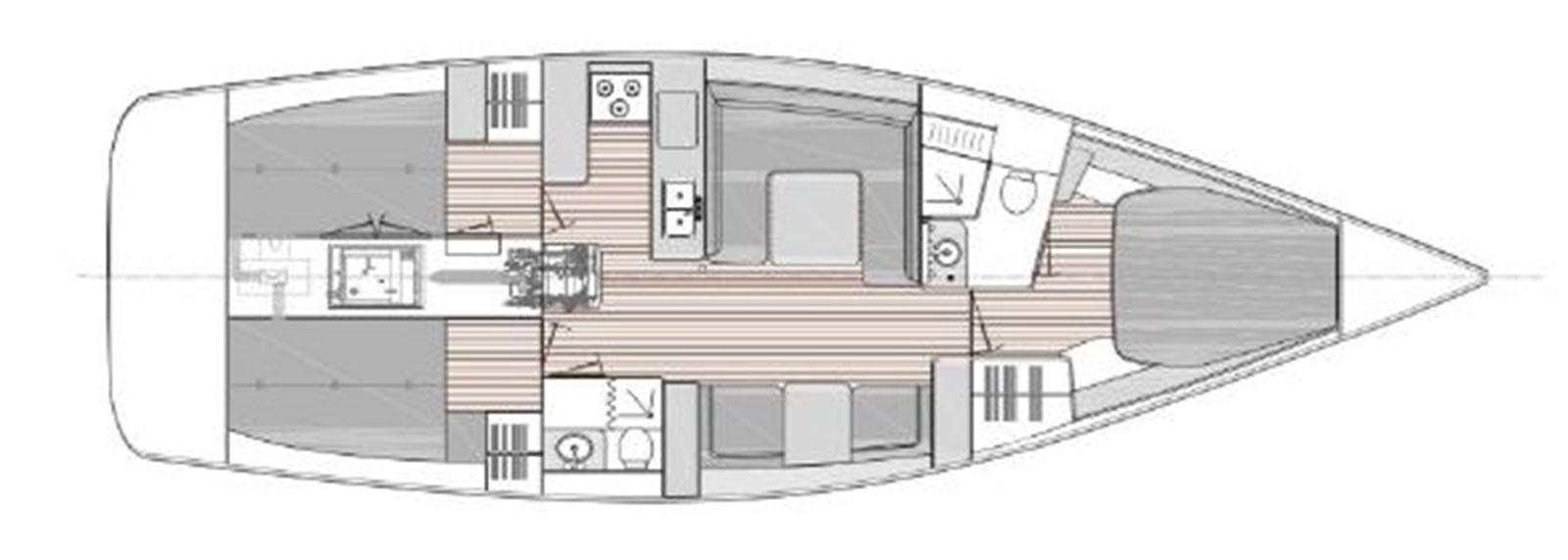 Interior Plan 2020 CATALINA 425 Sloop 2910642