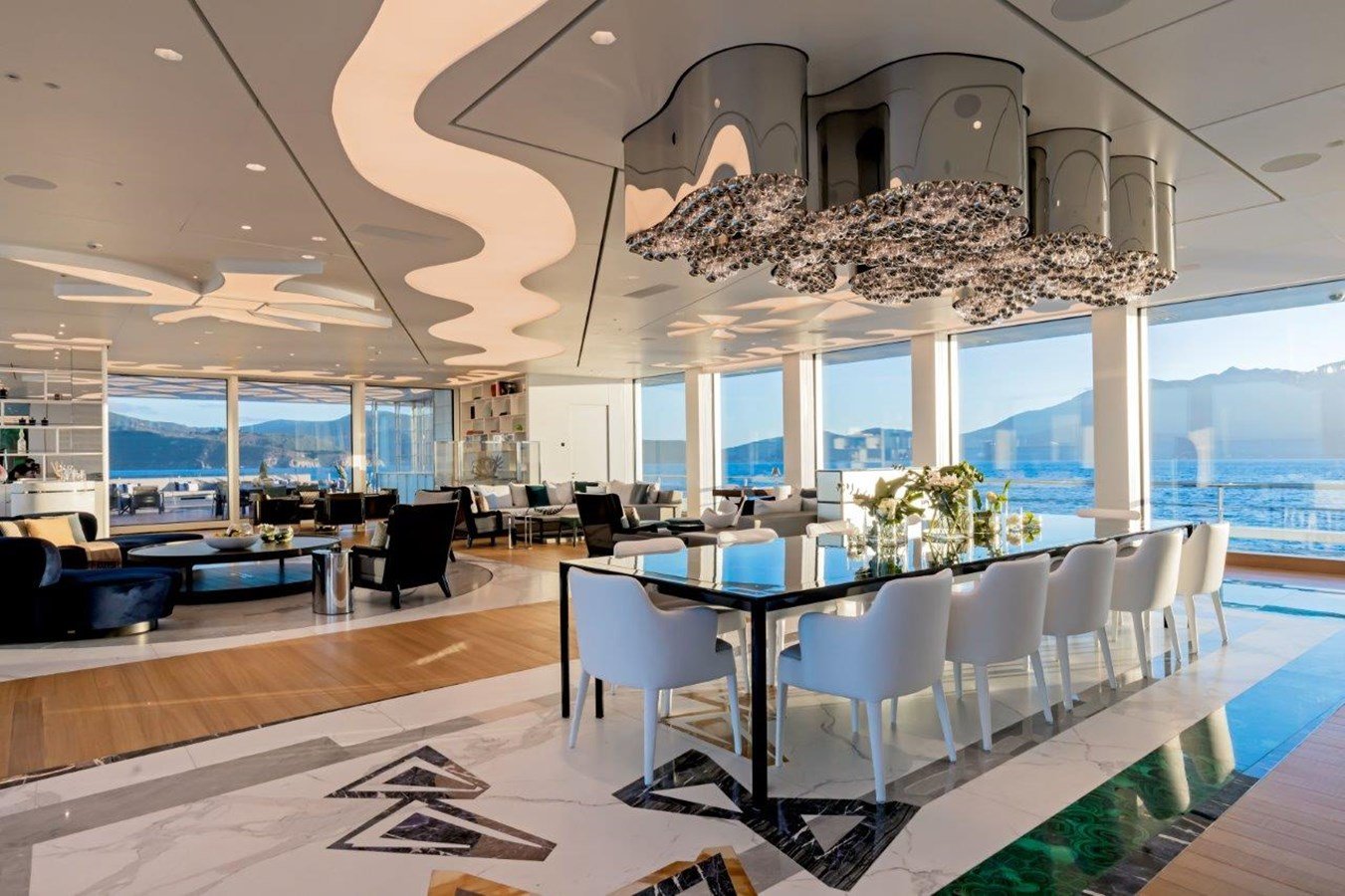 Main Salon Looking Aft To Port  2020 BENETTI Displacement Motor Yacht Motor Yacht 2918035