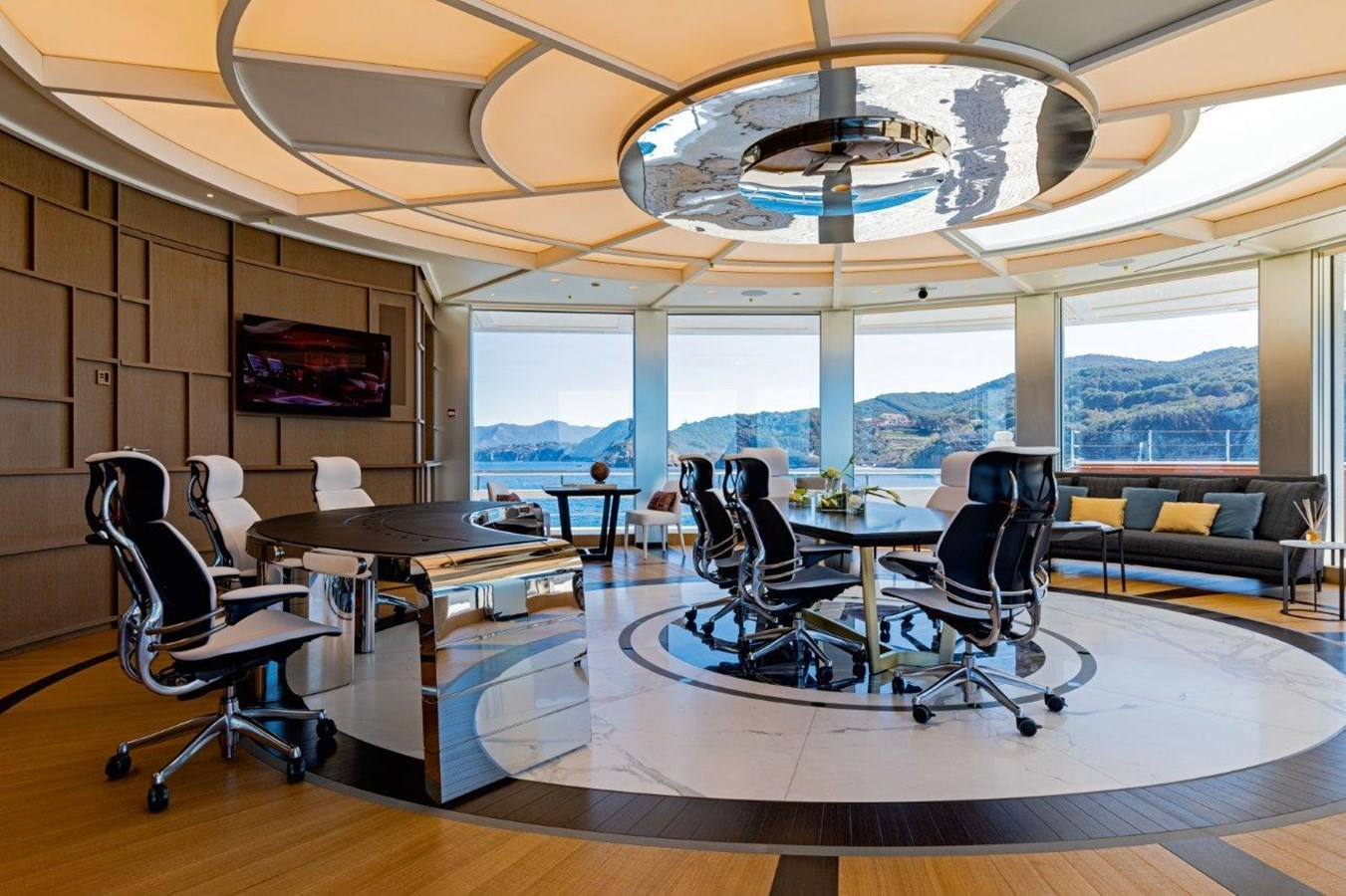 Owners Office Forward On Owners Deck, PA's Office Adjacent 2020 BENETTI Displacement Motor Yacht Motor Yacht 2918040