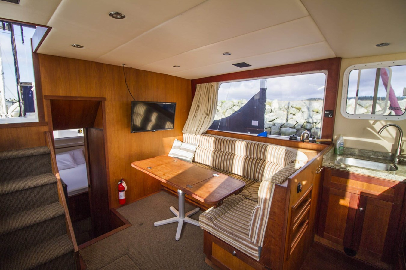 Companionway to covered aft deck 2009 COOPER  Motor Yacht 2920661