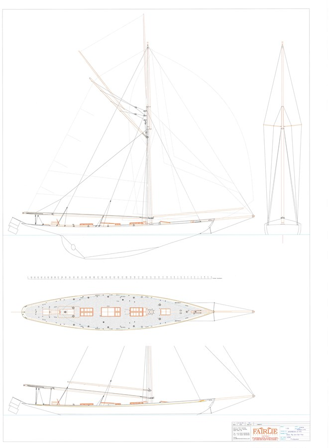 moonbeam of fife sail plan 1903 WILLIAM FIFE AND SON  Classic Yacht 2923642