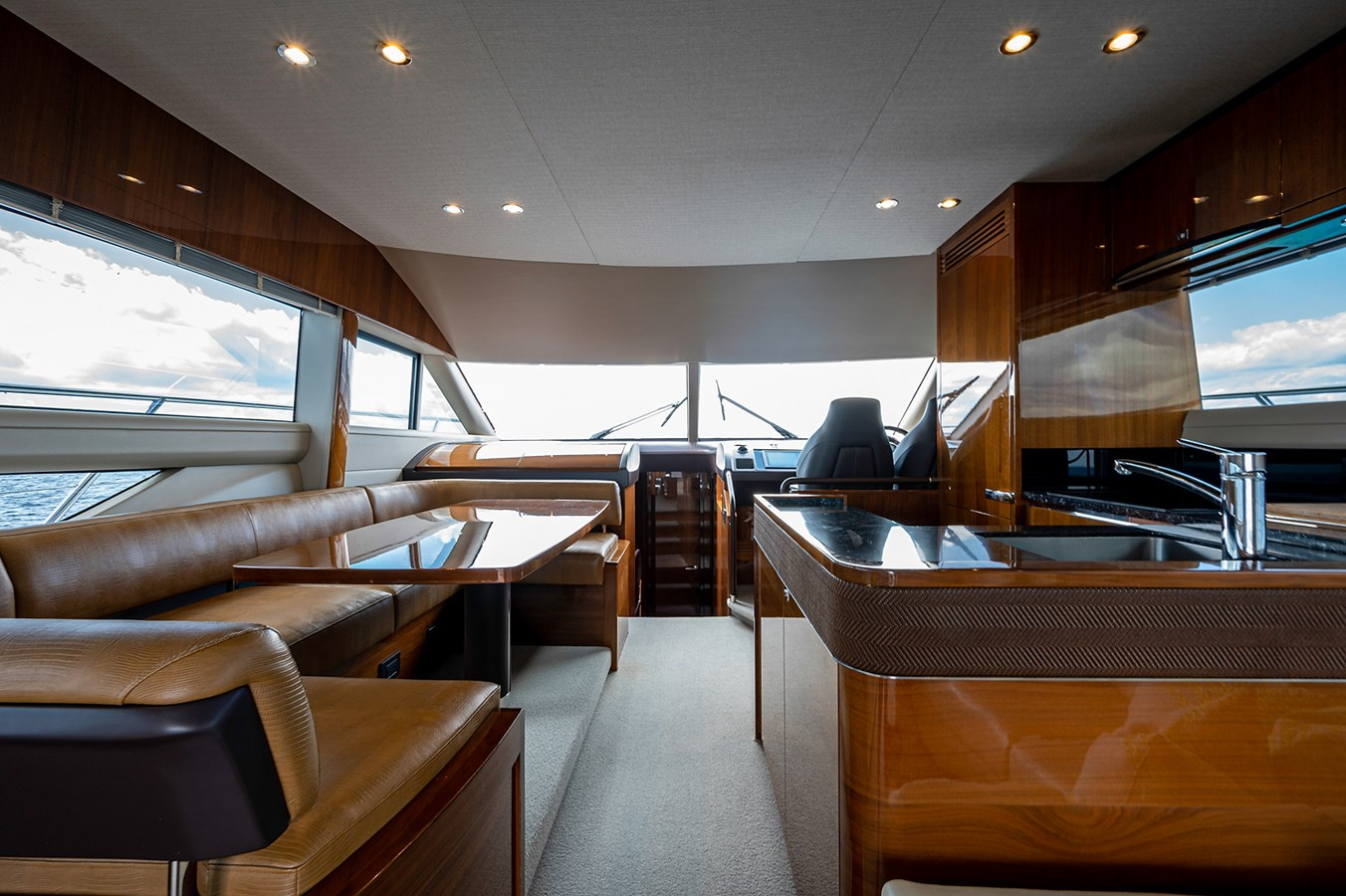 Bow To Stern_Dinette1 2015 PRINCESS YACHTS 56 Motor Yacht 2932811
