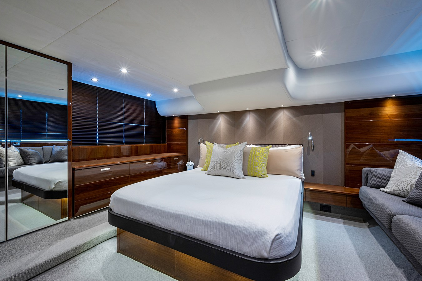 Bow To Stern_Master Stateroom1 2015 PRINCESS YACHTS 56 Motor Yacht 2932835