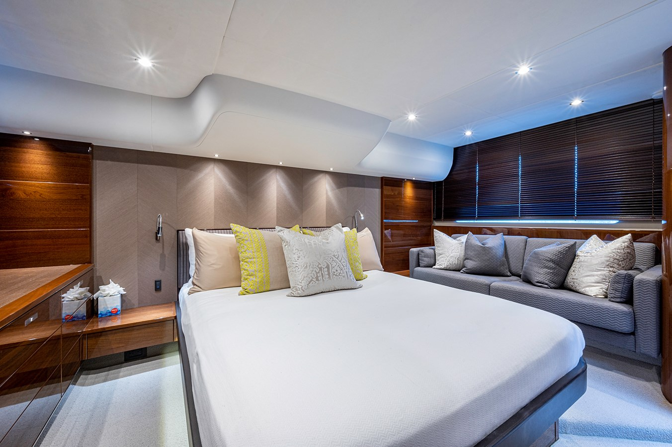 Bow To Stern_Master Stateroom5 2015 PRINCESS YACHTS 56 Motor Yacht 2932836
