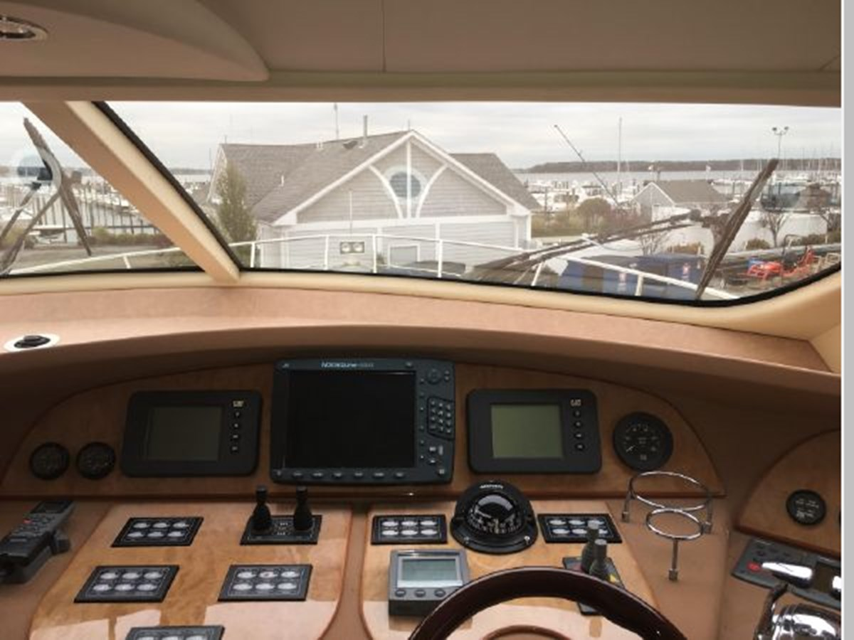 View from helm seated 2006 AICON YACHTS 56 Motor Yacht 2950874