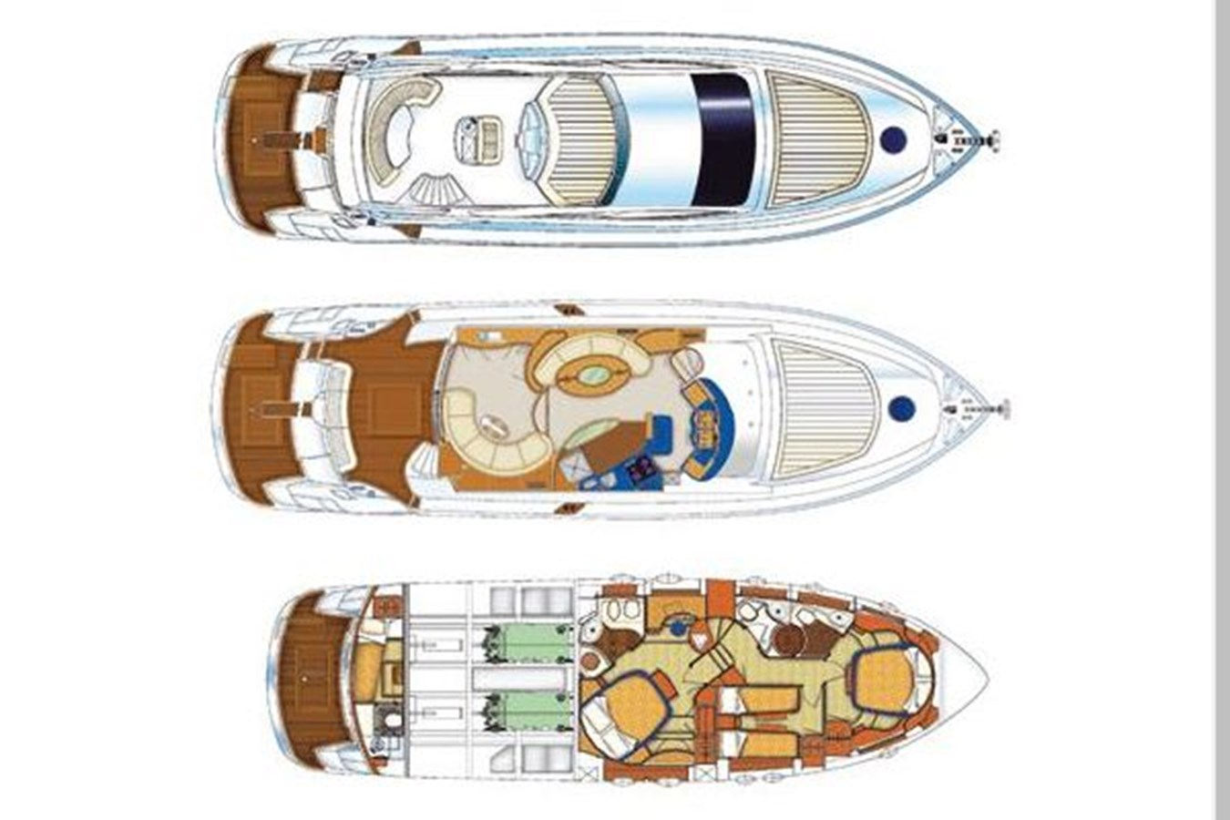 Layout-Manufacturer Provided Image 2006 AICON YACHTS 56 Motor Yacht 2950936