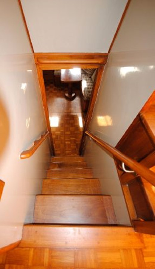 Stairway to Master Stateroom 1974 GRAND BANKS  Trawler 2952209