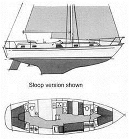 Layout 1974 GULFSTAR Sloop Other 79338