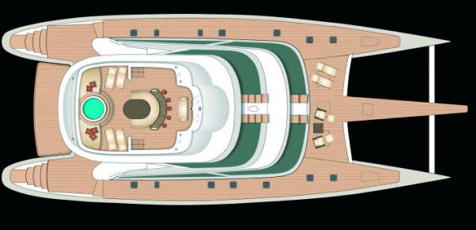Deck Layout 2008 YAPLUKA Yapluka Catamaran 86767
