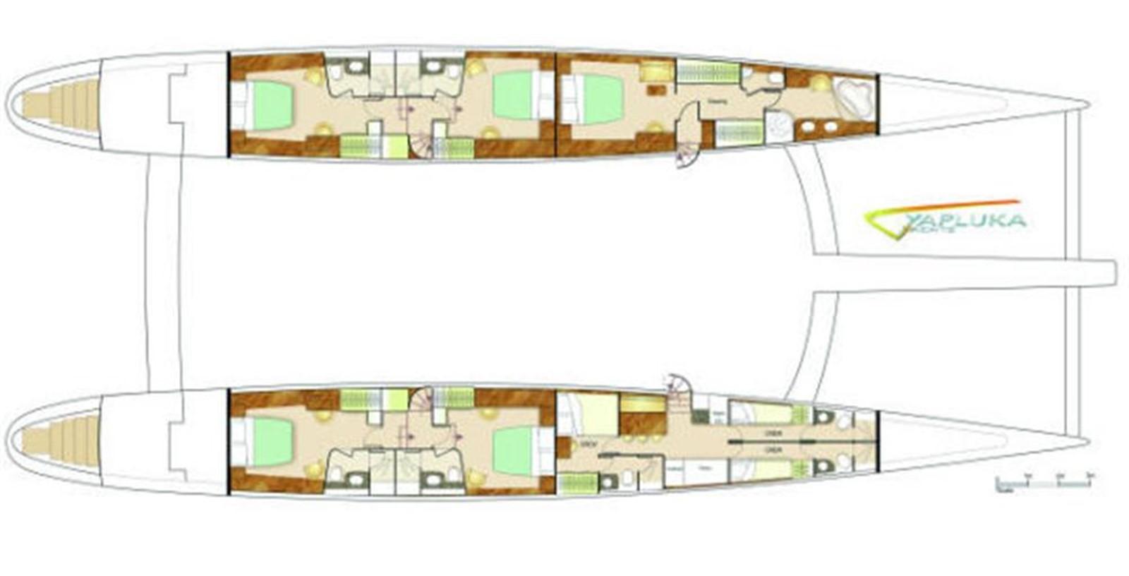 Hull Layout 2008 YAPLUKA Yapluka Catamaran 86768