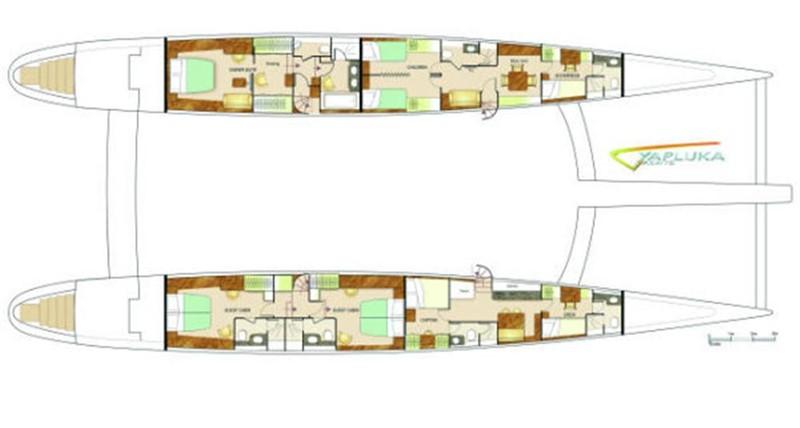 Hull Layout Variation 2008 YAPLUKA Yapluka Catamaran 86769