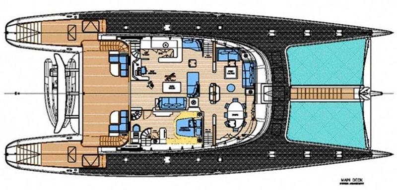 Main Deck Layout 2007 BLUBAY ARGO BOATS 102 Catamaran 86935