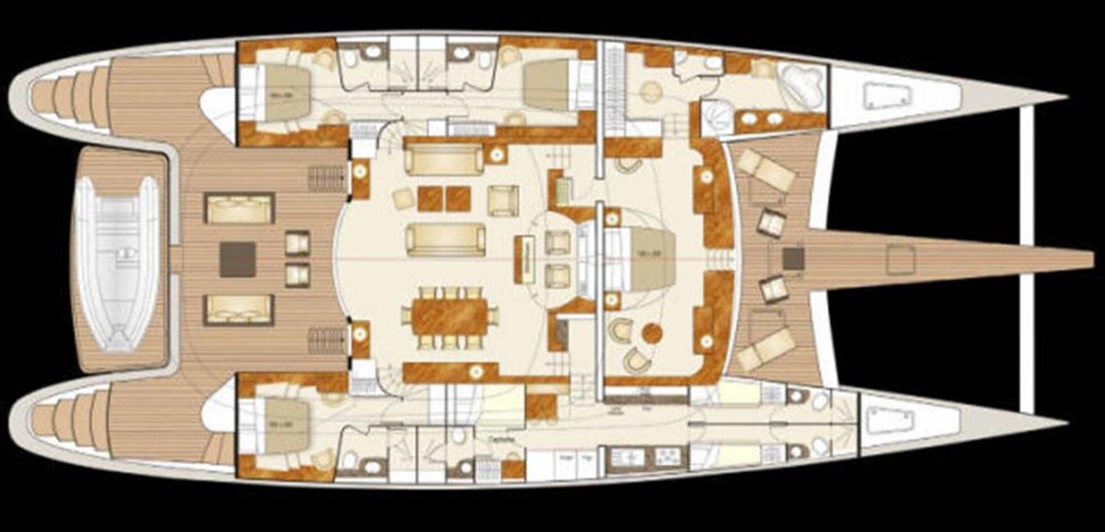 Custom Interior Layout 2008 YAPLUKA 100 DD Catamaran 86939