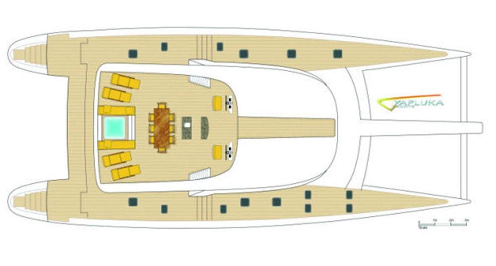 Deck Layout 2008 YAPLUKA 100 DD Catamaran 86940
