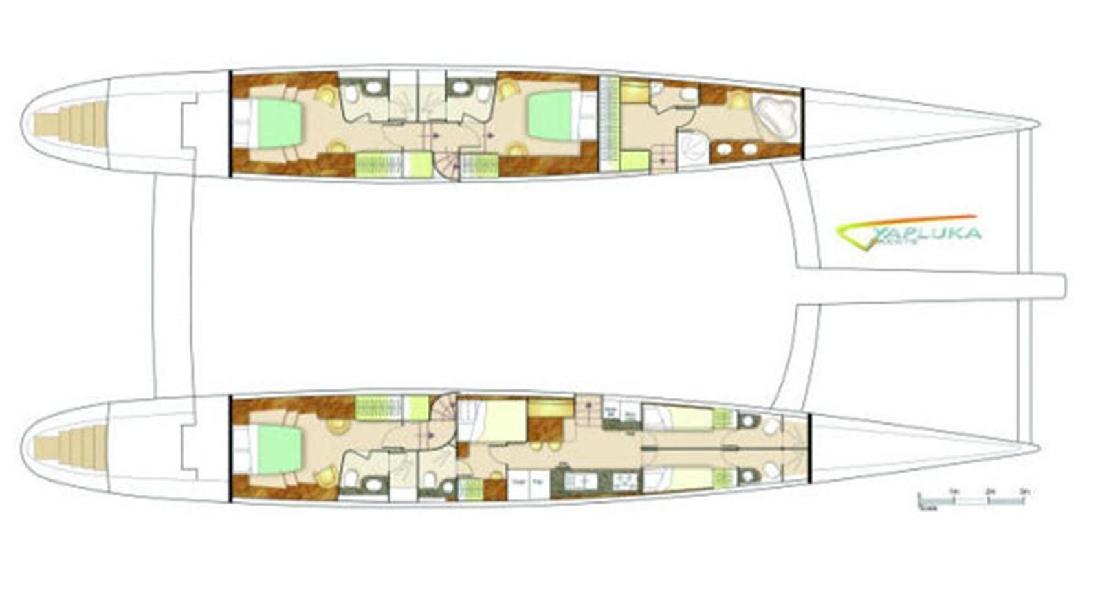 Hull Layout 2008 YAPLUKA 100 DD Catamaran 86941