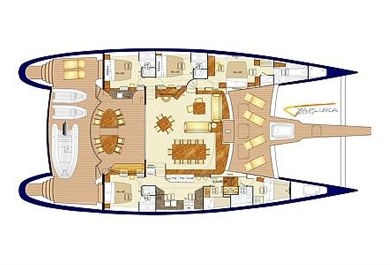 Single Deck Layout 2008 YAPLUKA 85 Double Deck Catamaran 86948
