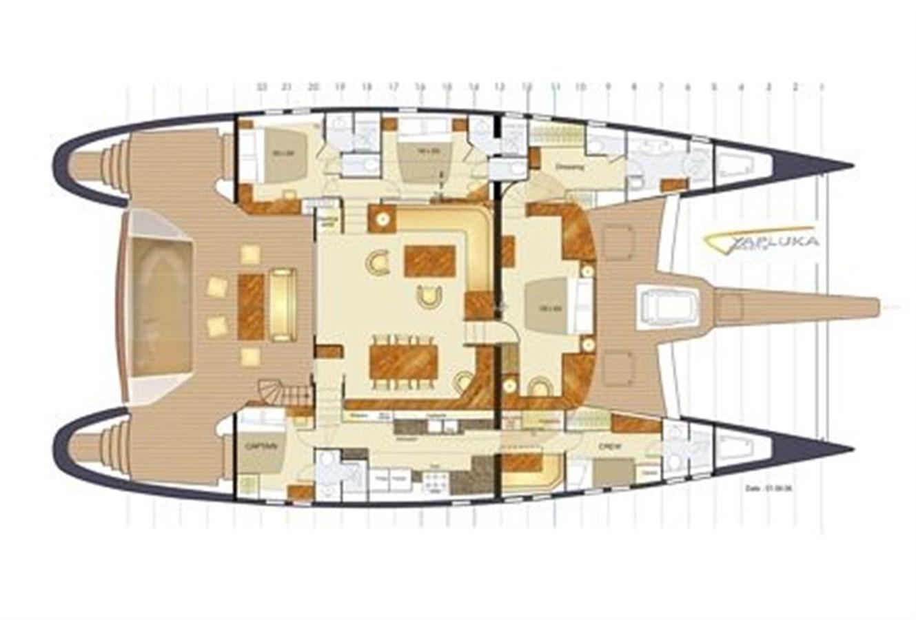 Layout 2008 YAPLUKA 85 Double Deck Catamaran 86952