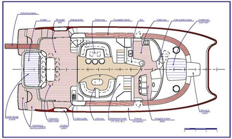 Deck Layout 2008 FOUNTAINE PAJOT Queensland Catamaran 87082