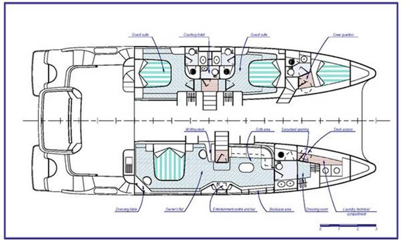Layout 2008 FOUNTAINE PAJOT Queensland Catamaran 87084