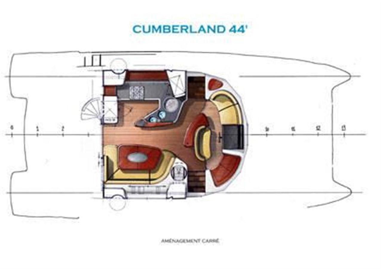 Main Deck Accomodations 2007 FOUNTAINE PAJOT Cumberland Catamaran 87153