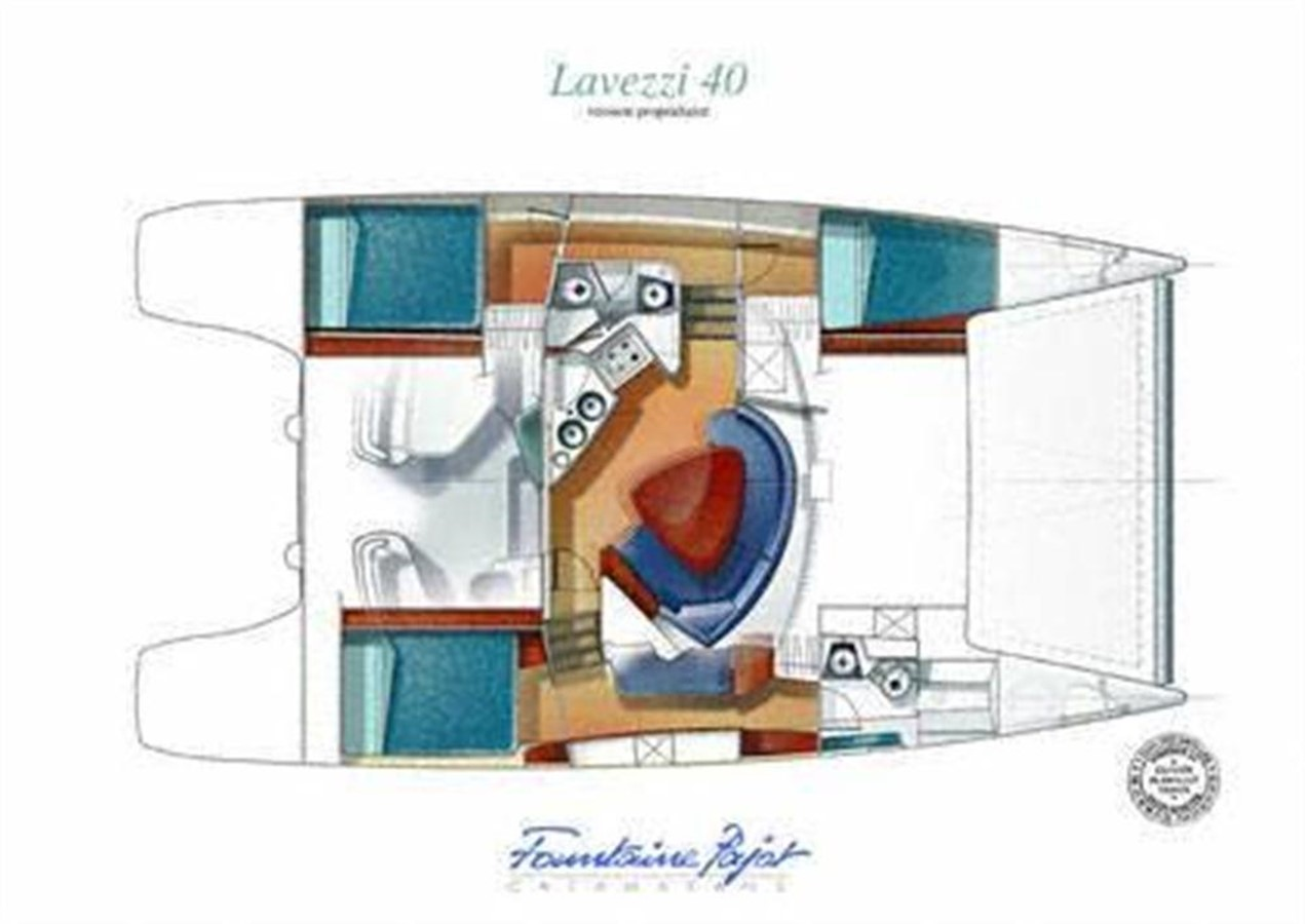 Owner's Layout 2007 FOUNTAINE PAJOT Lavezzi Cruising Sailboat 87208