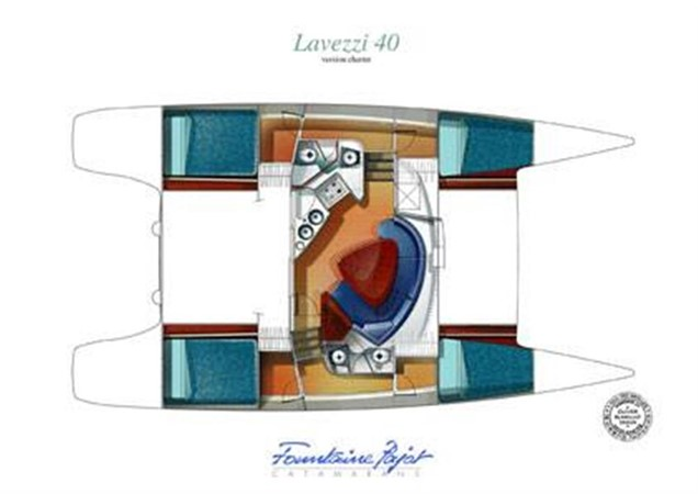 4 Cabin Layout 2007 FOUNTAINE PAJOT Lavezzi Cruising Sailboat 87200