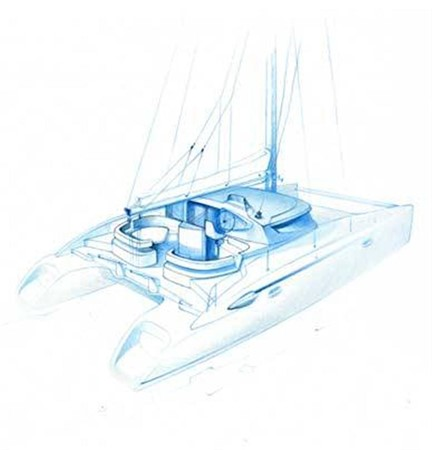3-D Drawing 2007 FOUNTAINE PAJOT Lavezzi Cruising Sailboat 87204