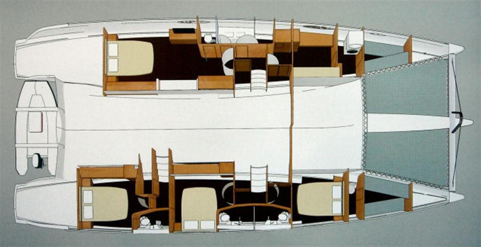 Layout 2008 FOUNTAINE PAJOT  Catamaran 87835
