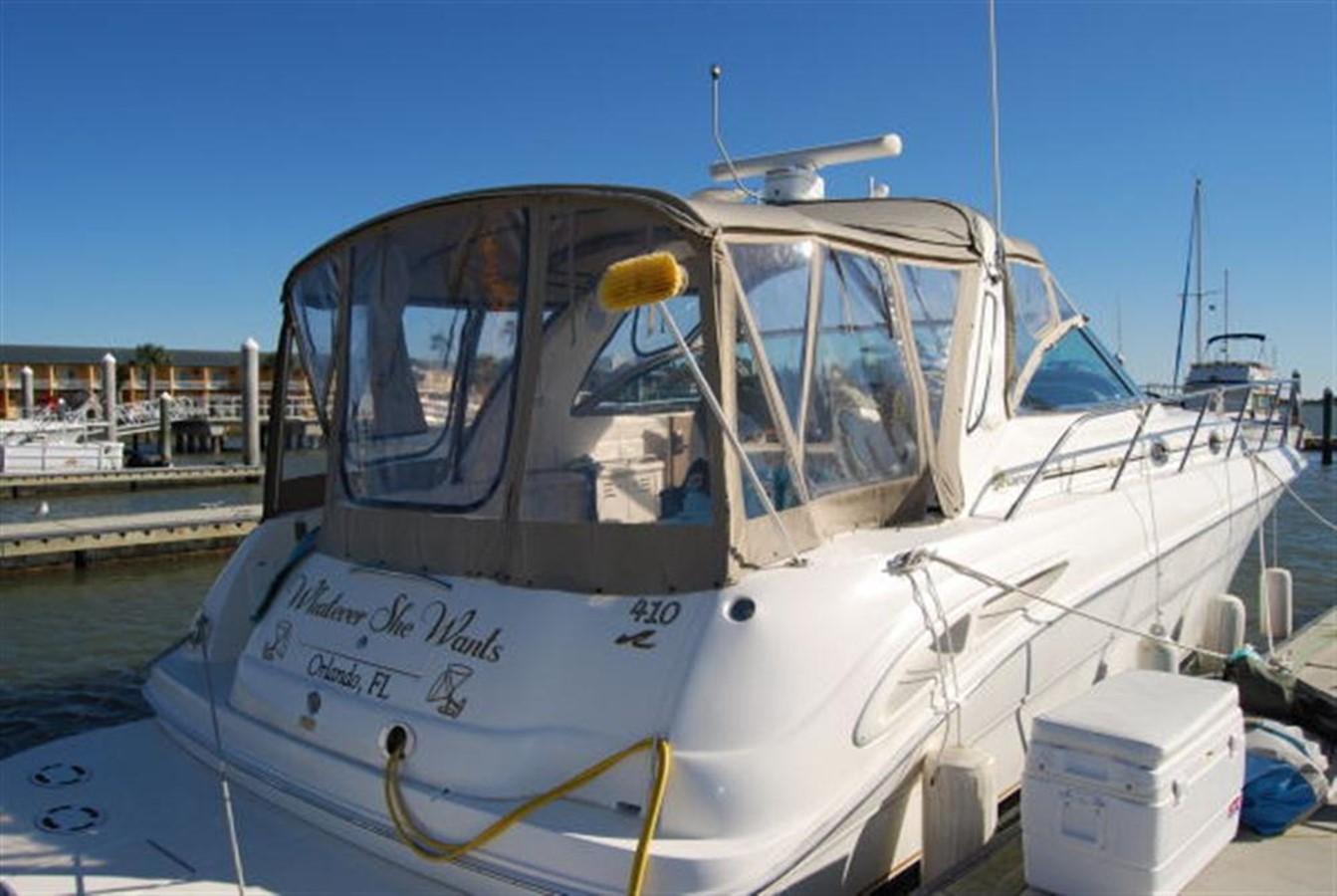 Stern Quarter 2000 SEA RAY 410 Sundancer Cruiser 88066