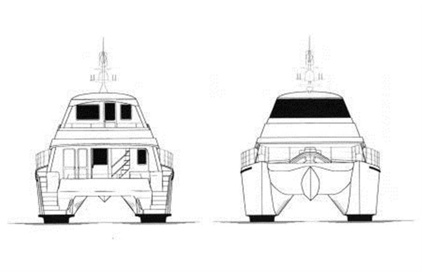 Fore and Aft Deck Drawing 2011 DICKSON 620 Sport Cruiser Catamaran 75591