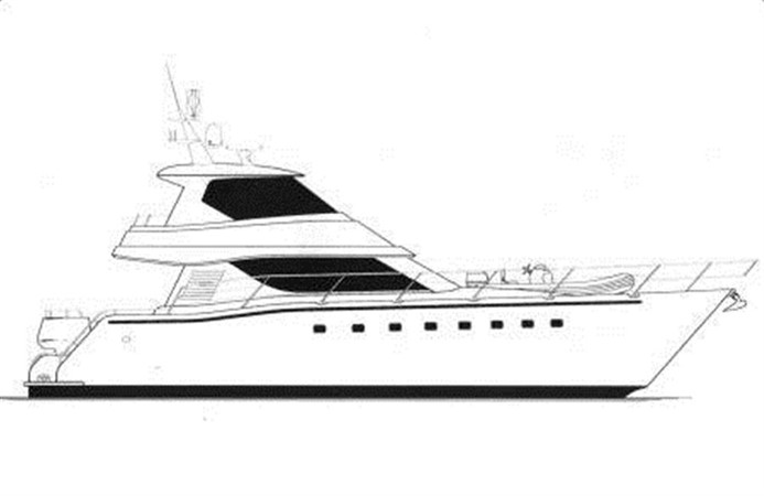 Profile Drawing 2011 DICKSON 620 Sport Cruiser Catamaran 75589