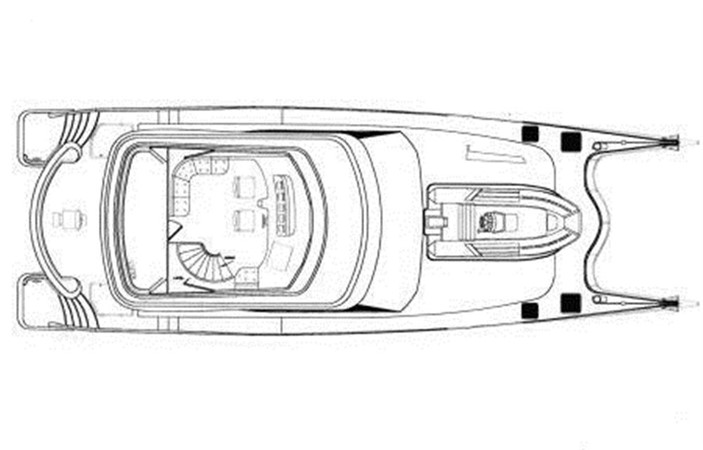 Flybridge Layout 2011 DICKSON 620 Sport Cruiser Catamaran 75590