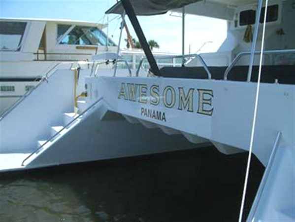 Transom 1993 AWESOME Power Cat Catamaran 89825