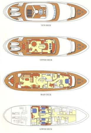Layout 1998 HAKVOORT  Motor Yacht 408663