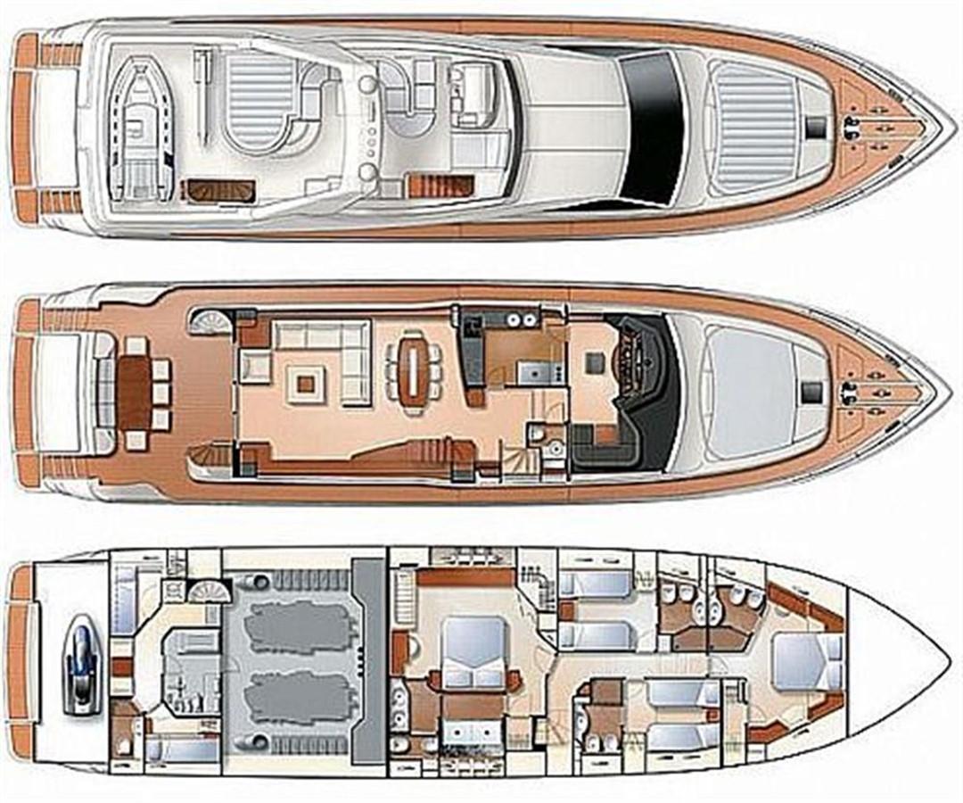 83′ Ferretti 830 yacht for sale