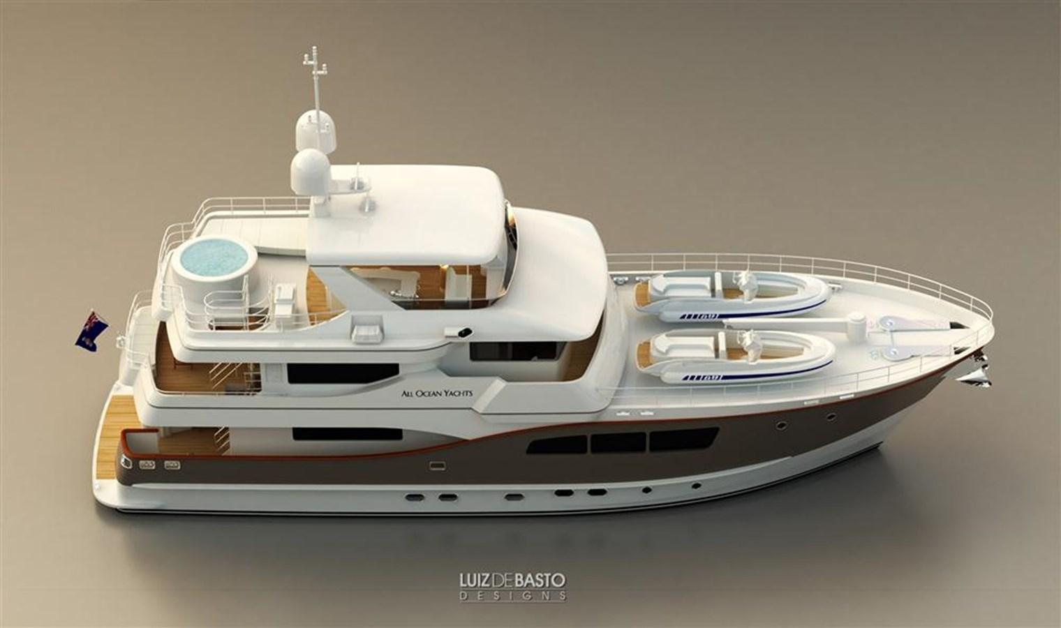 All Ocean Yachts 90′ Fiberglass yacht for sale