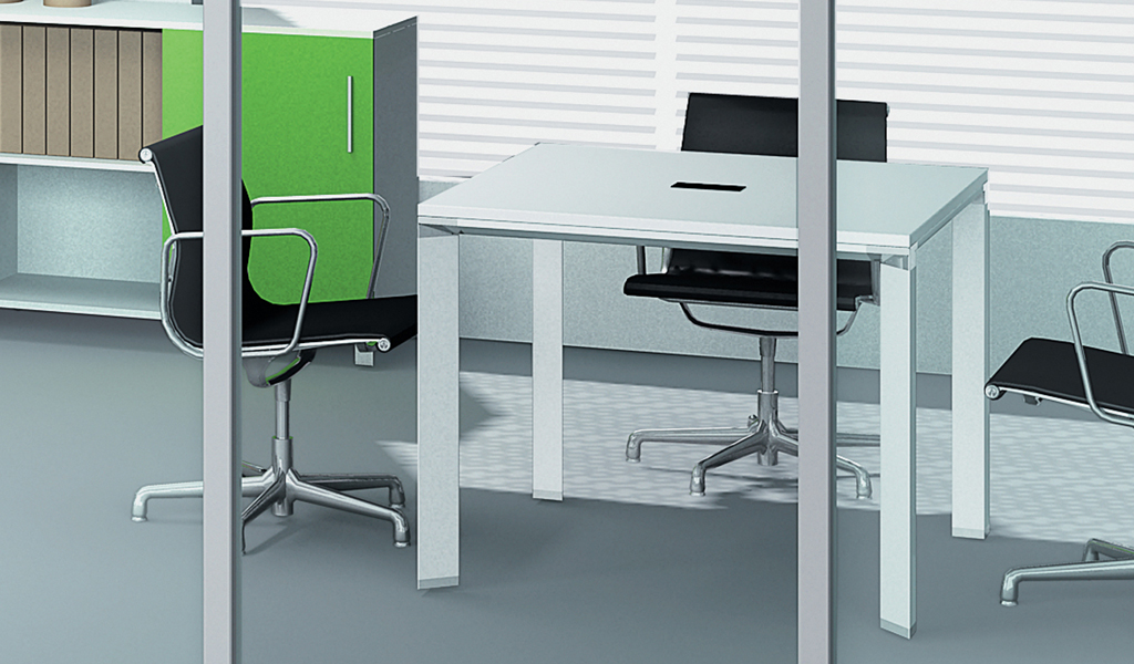 E-Half Square Meeting Table : BCCH-21N