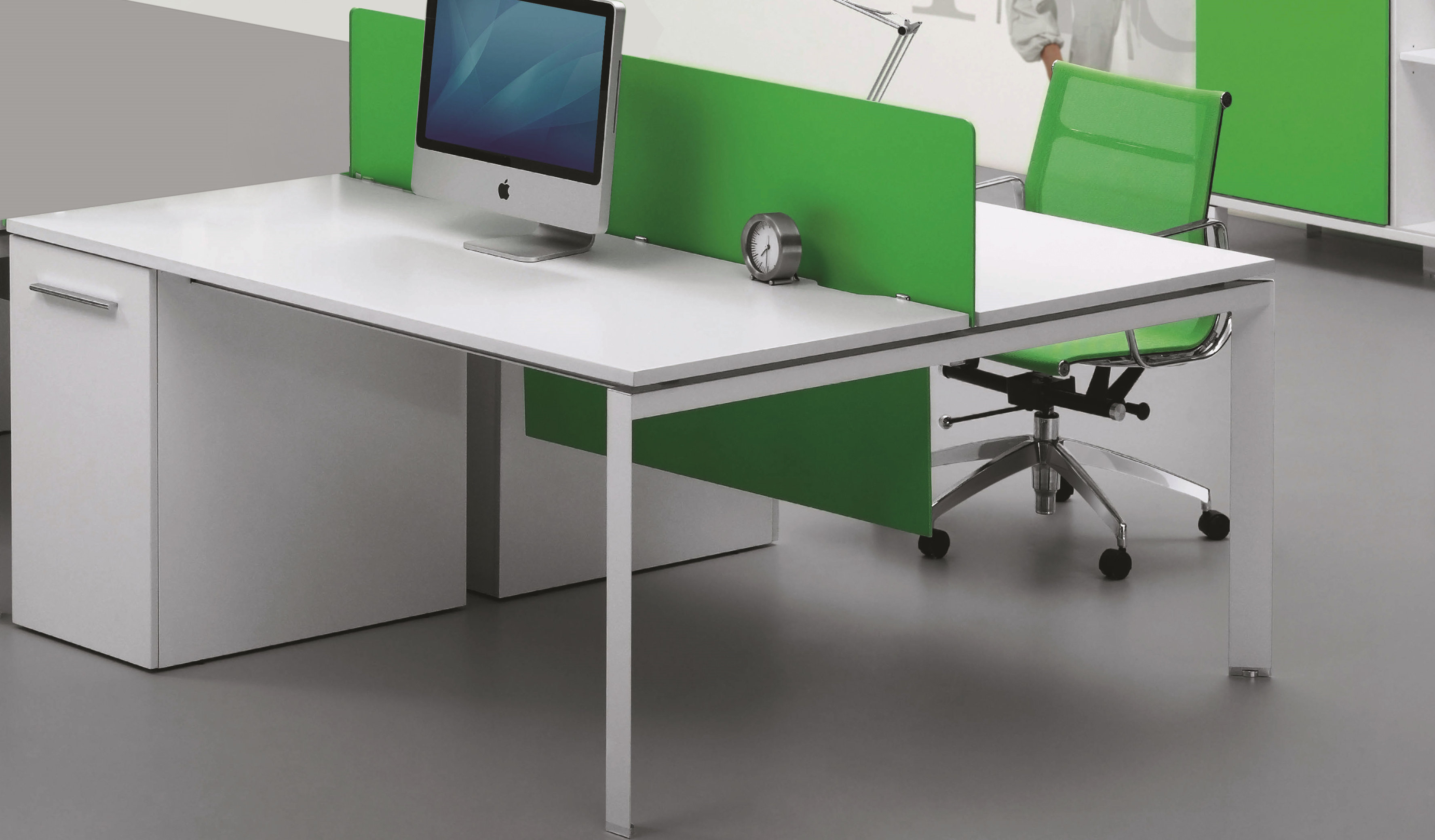Desking System With Storage 'E-Half - Linear'