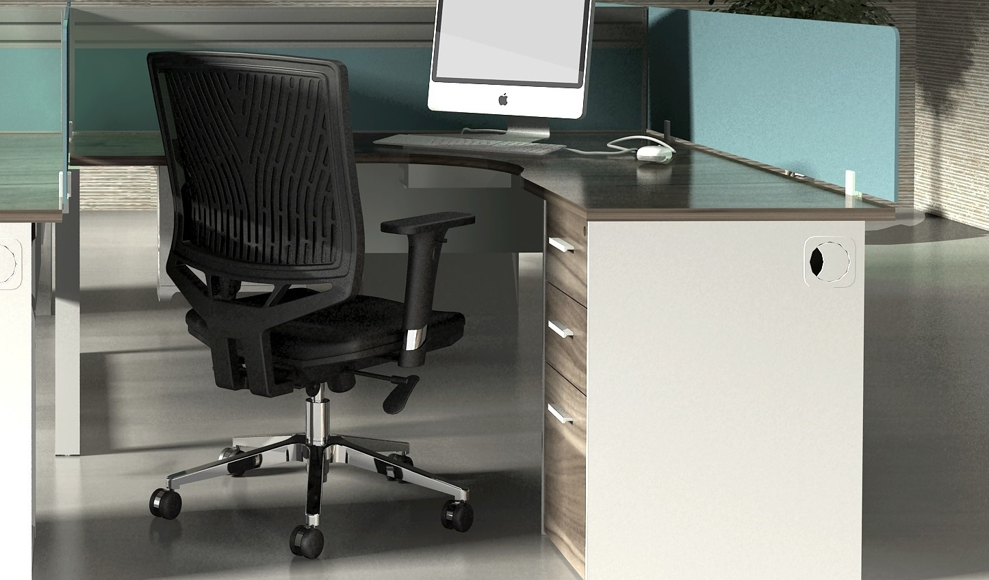 Linz Shaped Workstation Furniture