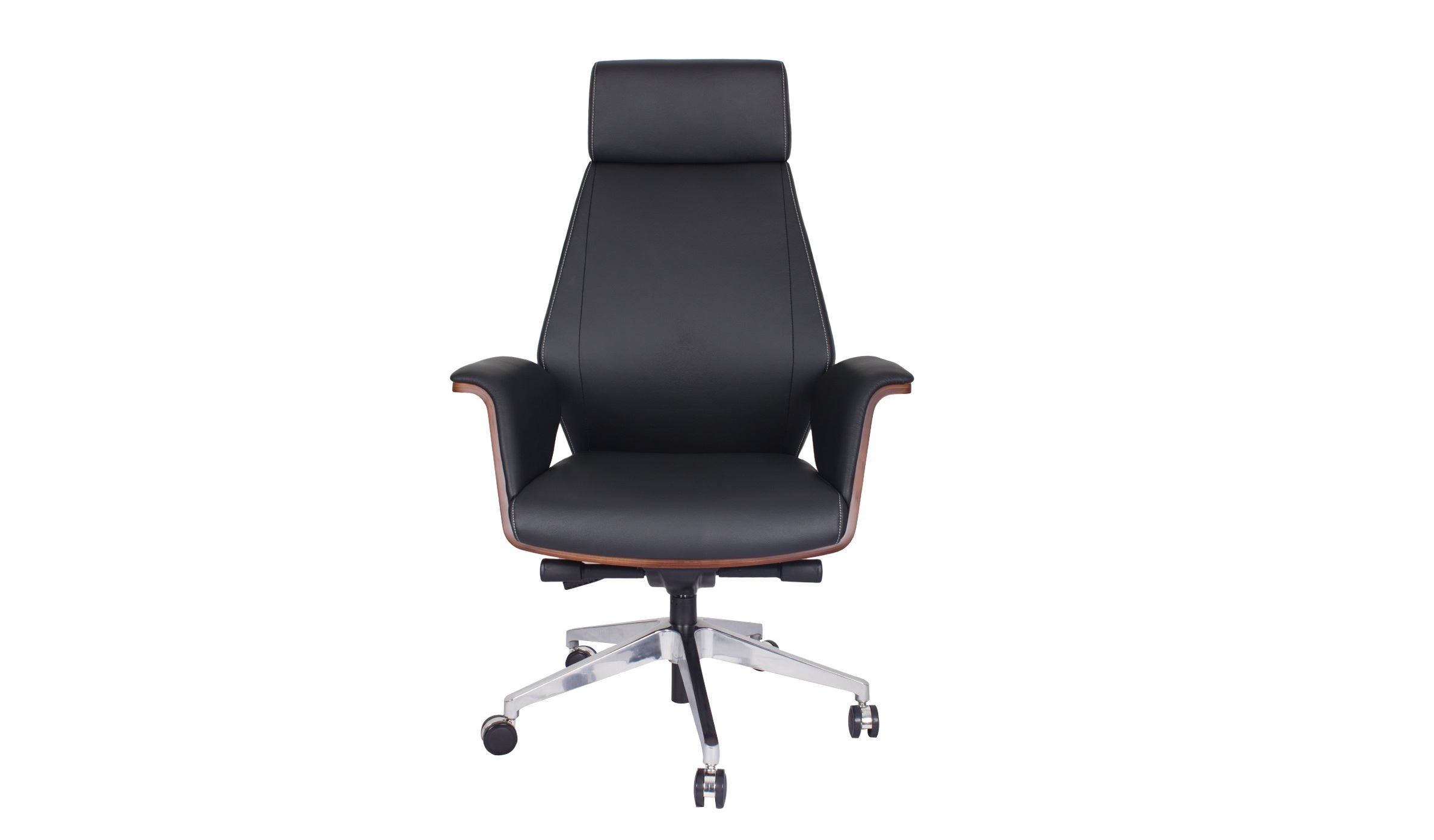 'Coupe' Leather Office Chair With Headrest
