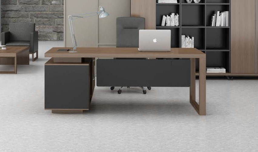 stylish office table with side cabinet boss 39 s cabin
