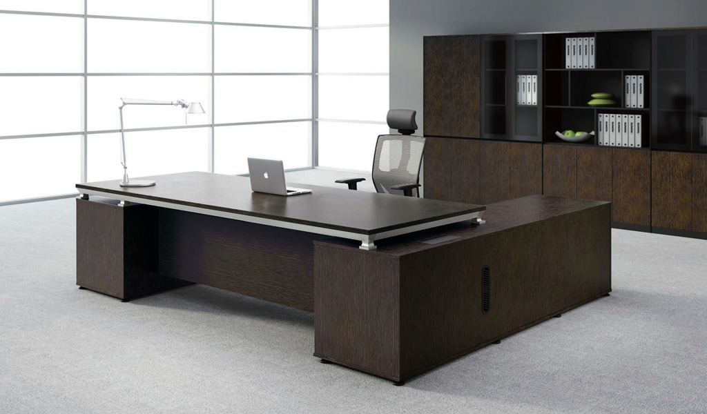 modern sirius office table with side cabi  boss s cabin