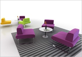 A Vibrant Collection of Modular Lounge Seating