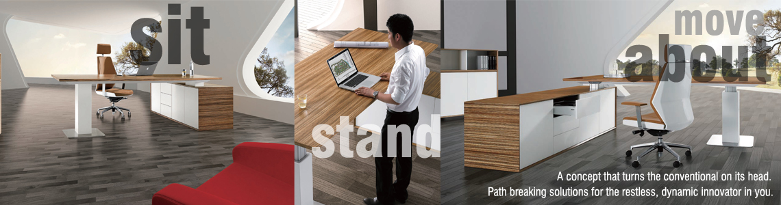 Sit-Stand-Move about Workstation